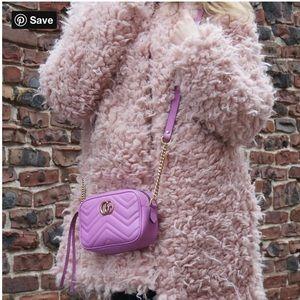 """Sanctuary blush """"Pandora"""" faux fur coat L"""